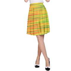 Green and oragne A-Line Skirt