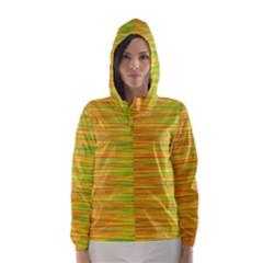 Green and oragne Hooded Wind Breaker (Women)