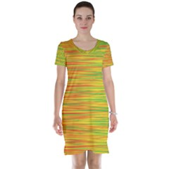 Green and oragne Short Sleeve Nightdress