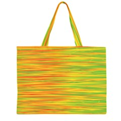 Green and oragne Large Tote Bag