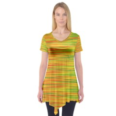 Green and oragne Short Sleeve Tunic