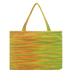 Green And Oragne Medium Tote Bag