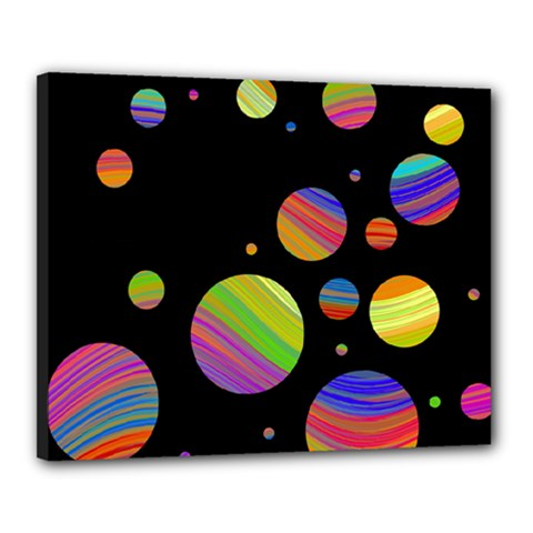 Colorful galaxy Canvas 20  x 16