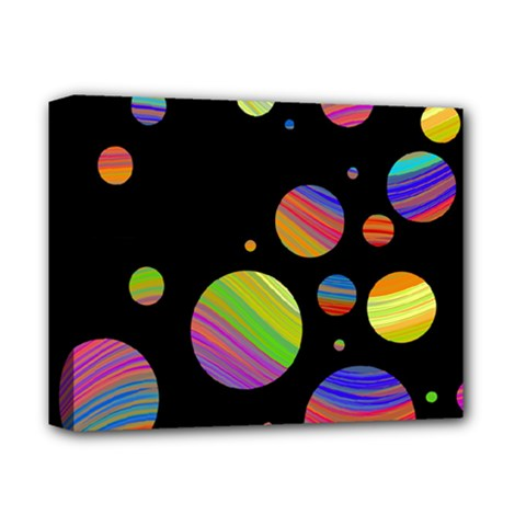 Colorful galaxy Deluxe Canvas 14  x 11