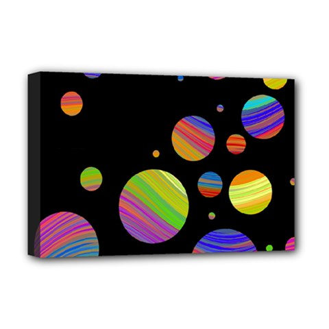 Colorful galaxy Deluxe Canvas 18  x 12