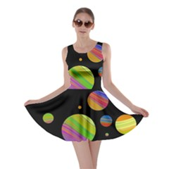 Colorful galaxy Skater Dress