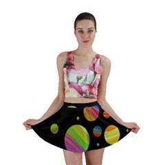 Colorful galaxy Mini Skirt