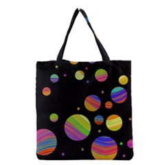 Colorful galaxy Grocery Tote Bag