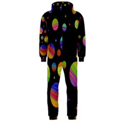 Colorful galaxy Hooded Jumpsuit (Men)