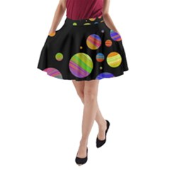 Colorful galaxy A-Line Pocket Skirt