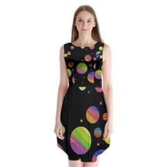 Colorful galaxy Sleeveless Chiffon Dress