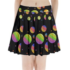 Colorful Galaxy Pleated Mini Skirt
