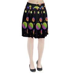 Colorful Galaxy Pleated Skirt