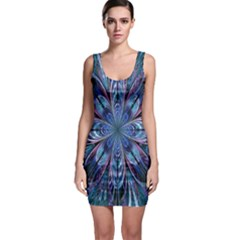 The Flower Of Life Sleeveless Bodycon Dress