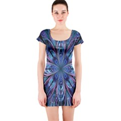 The Flower Of Life Short Sleeve Bodycon Dress