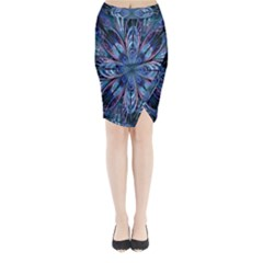 The Flower Of Life Midi Wrap Pencil Skirt