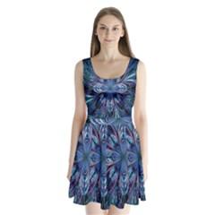 The Flower Of Life Split Back Mini Dress