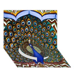 The Peacock Pattern Circle Bottom 3D Greeting Card (7x5)