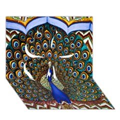 The Peacock Pattern Clover 3D Greeting Card (7x5)