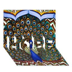 The Peacock Pattern HOPE 3D Greeting Card (7x5)