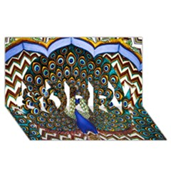 The Peacock Pattern SORRY 3D Greeting Card (8x4)
