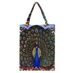 The Peacock Pattern Classic Tote Bag