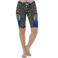 The Peacock Pattern Cropped Leggings
