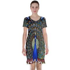 The Peacock Pattern Short Sleeve Nightdress