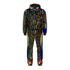 The Peacock Pattern Hooded Jumpsuit (Kids)