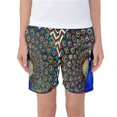 The Peacock Pattern Women s Basketball Shorts