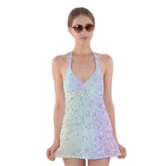 The Background Wallpaper Mosaic Halter Swimsuit Dress