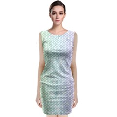 The Background Wallpaper Mosaic Classic Sleeveless Midi Dress