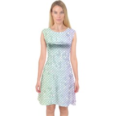 The Background Wallpaper Mosaic Capsleeve Midi Dress