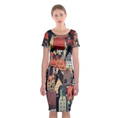 Tilt Shift Of Urban View During Daytime Classic Short Sleeve Midi Dress