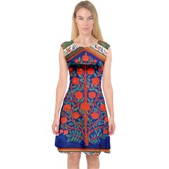 Tree Of Life Capsleeve Midi Dress
