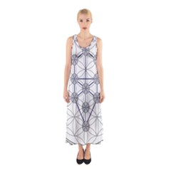 Tree Of Life Flower Of Life Stage Sleeveless Maxi Dress