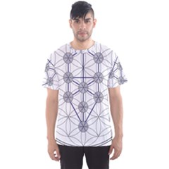 Tree Of Life Flower Of Life Stage Men s Sport Mesh Tee