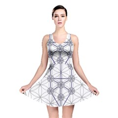 Tree Of Life Flower Of Life Stage Reversible Skater Dress