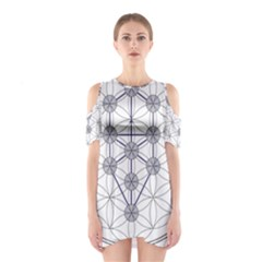 Tree Of Life Flower Of Life Stage Cutout Shoulder Dress