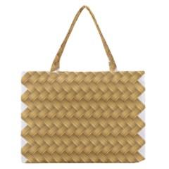 Wood Illustrator Yellow Brown Medium Zipper Tote Bag