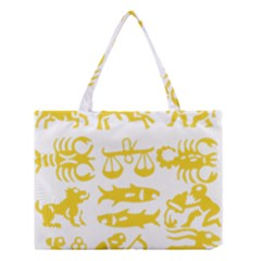Zodiac Sign Signs Silhouette Black Medium Tote Bag