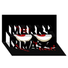 Halloween  Trick or treat  - monsters red eyes Merry Xmas 3D Greeting Card (8x4)