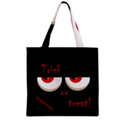 Halloween  Trick or treat  - monsters red eyes Grocery Tote Bag