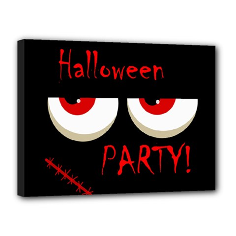 Halloween party - red eyes monster Canvas 16  x 12
