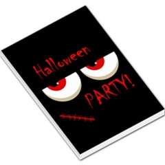 Halloween party - red eyes monster Large Memo Pads