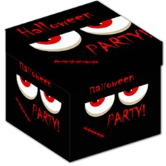 Halloween party - red eyes monster Storage Stool 12