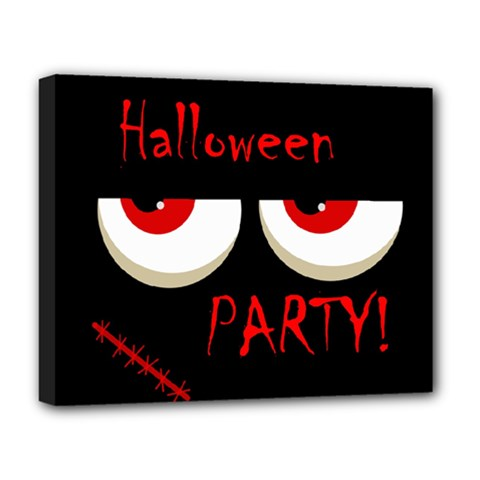 Halloween party - red eyes monster Deluxe Canvas 20  x 16