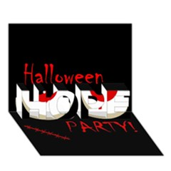 Halloween party - red eyes monster HOPE 3D Greeting Card (7x5)