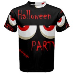 Halloween party - red eyes monster Men s Cotton Tee