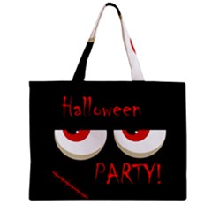 Halloween party - red eyes monster Zipper Mini Tote Bag